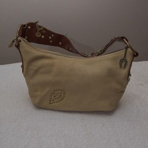 Betsey Johnson Light Brown Tapestry Shoulder bag